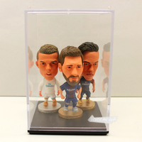 3PCS LOT DISPLAY BOX Soccerwe Football Player Dolls 2 5 Figurine Toy Freedom Of Choice 3pcs