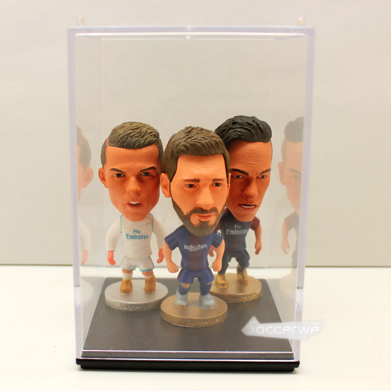 3PCS/LOT + DISPLAY BOX Soccerwe Football Player Dolls 2.5 Figurine toy (Freedom of choic ...