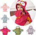 100% algodón alta calidad poncho syle toallas de playa para niños con shark kids toalla de baño con capucha poncho 12 diseños