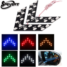 SPEVERT 2x Car Rear View Mirror Indicator Signal Turn Light 14 SMD LED Arrow Led Parking for Ford Focus Vw Skoda Bmw E39 Kia Ope