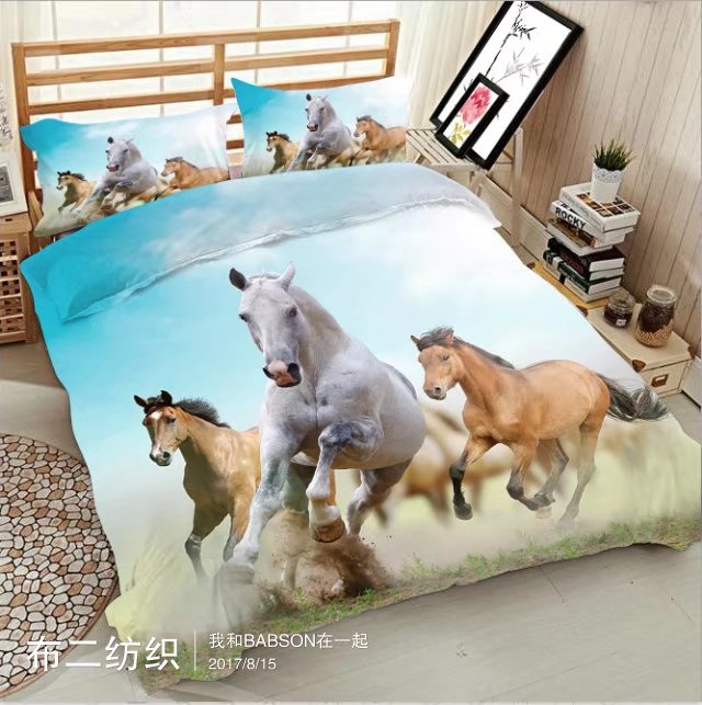 Morden 3D printing horse 3D bedding Set for bed Duvet Cover set twin full queen king size bed set printed sheet bedMorden 3D printing horse 3D bedding Set for bed Duvet Cover set twin full queen king size bed set printed sheet bed