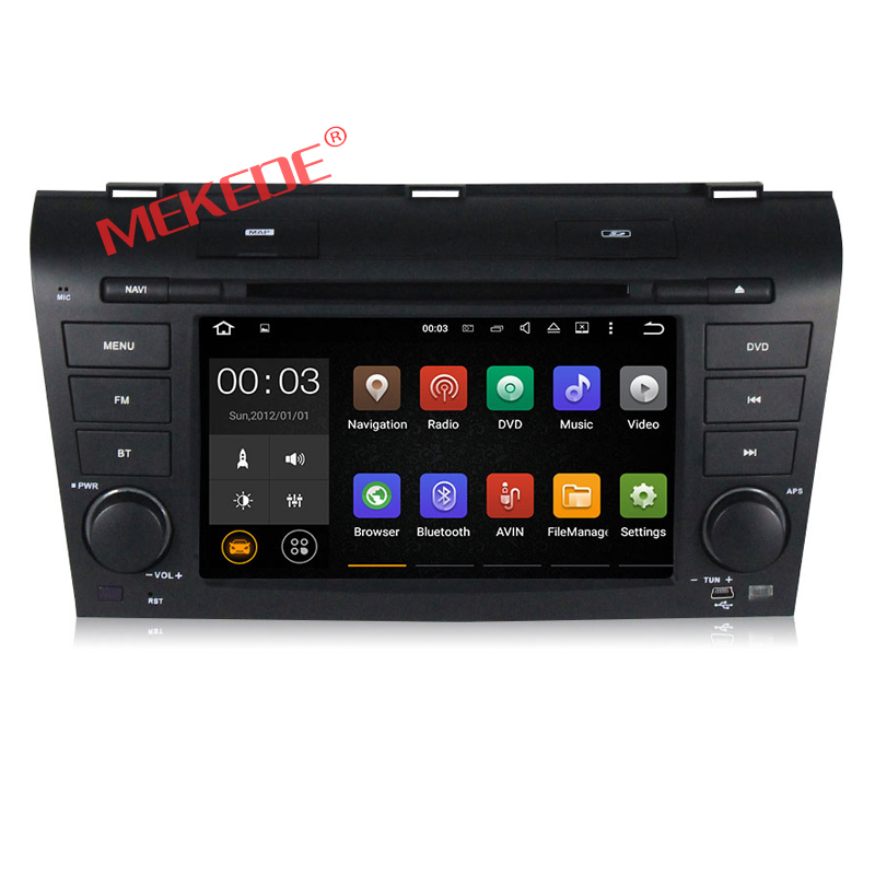 Free shipping Android4.44 Quad-Core car GPS Navigator DVD for MAZDA3 2004-2009 free 8G map card with free mirror link