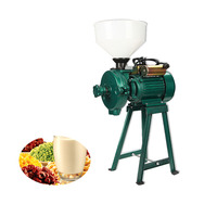 JamieLin Commercial Grain Grinding Machine Grain Crusher Flour Milling Machine Wet Dry Cereals Grinder 2.5KW