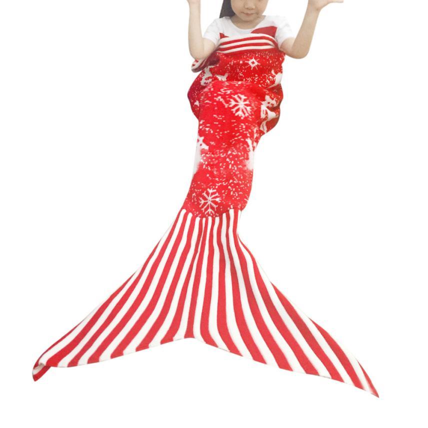 2018 Super Soft Mermaid Tail Blanket Handmade Crochet Adult Bed Wrap Sleeping Bag Blanket Free Shipping DE13
