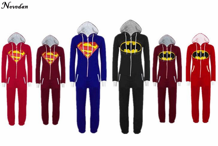 7dfad2521d Halloween Party Cosplay Kostüm Unisex Erwachsene Pyjamas Onesie Männer  Frauen Batman vs Superman Ein Stück Schlafanzug Nachtwäsche Anzug
