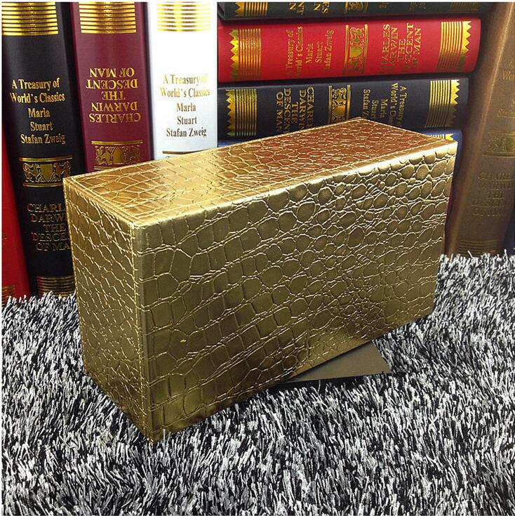 Модный Крокодил золотой прямоугольник деревянный кожаный коробка для салфеток Салфетка коробка крышка держатель для салфеток для дома автомобиля PZJH002