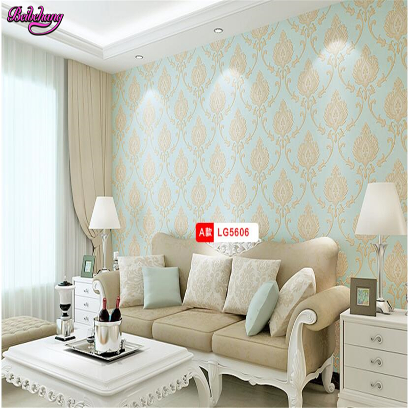 beibehang papel de parede 3D simple european-style wall paper with a non woven striped bedroom wall wallpaper papier peint 2017 papel de parede photo wallpaper m simple pvc striped bedroom wall decoration engineering background paper imported taros