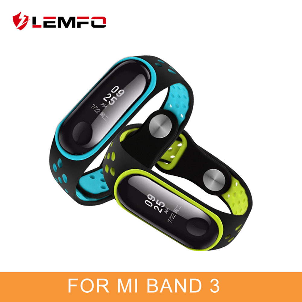 LEMFO Smart-Accessories Sport-Bracelet Mi-Band 3-Strap Silicone Xiaomi for 3-strap/Replacement/Waterproof/..