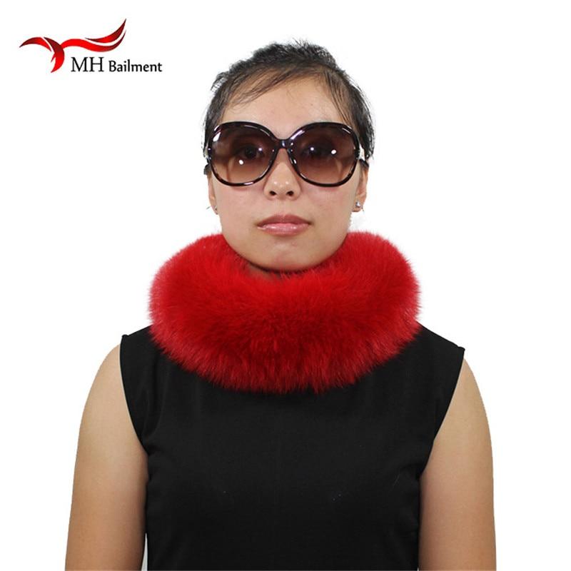 Children Fashion Real Solid Fox Fur headband Scarf Winter Earwarmer Hat Headwear Women Baby Customized Size L30