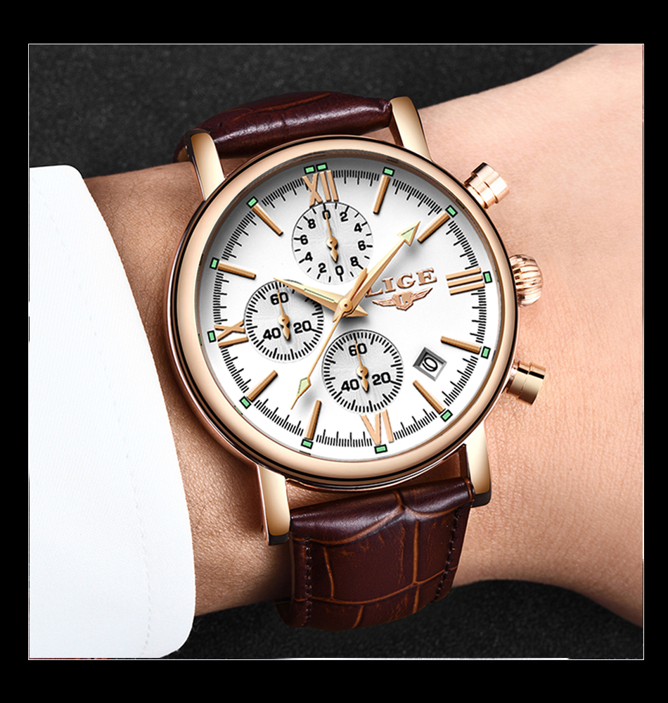 HTB1TyA.aO 1gK0jSZFqq6ApaXXaF 2019 LIGE Business Leather Fashion Waterproof Quartz Watch For Mens Watches Top Brand Luxury Male Date Clock Relogio Masculino