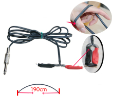 1PCS Rubber Silicone Tattoo Clip Cord Black Phono plug Cord For Tattoo Power Supply Tattoo Machine