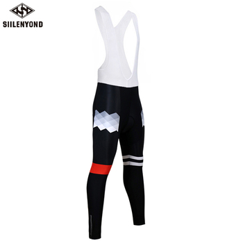 Siilenyond 2019 Pro Winter Thermal Cycling Bib Pants MTB Bike Cycling Bib Tights With 3D Gel Padded Shockproof Cycling Trousers 1