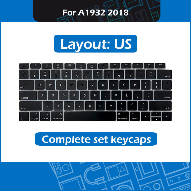 New Laptop <font><b>A1932</b></font> Complete set keycaps US Layout for Macbook Air Retina 13