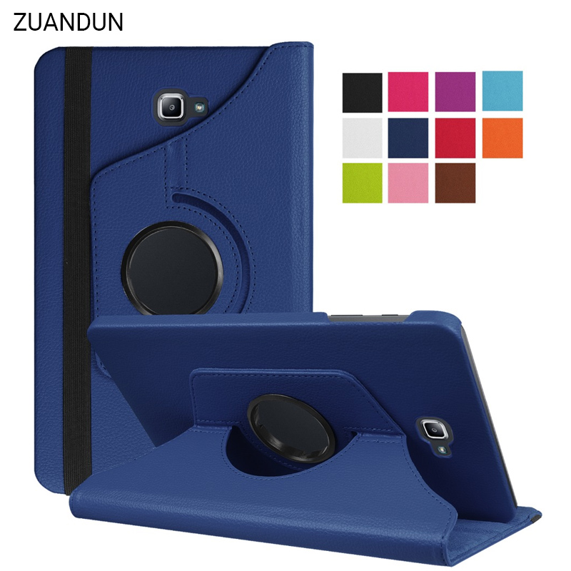 For Samsung Galaxy Tab A 10.1 2016 T580 T585 Case 360 Rotating PU Leather Flip Cover For Samsung T580 Case Stand Auto Sleep 360 degree rotating pu leather case stand for galaxy tab a 9 7 t550