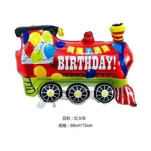 1 stücke Große Spielzeug Auto Folie Ballon Kinder Baby Dusche Boy Tank Krankenwagen Bus Feuer Lkw Geburtstag Party Dekoration Zug autos Ballons