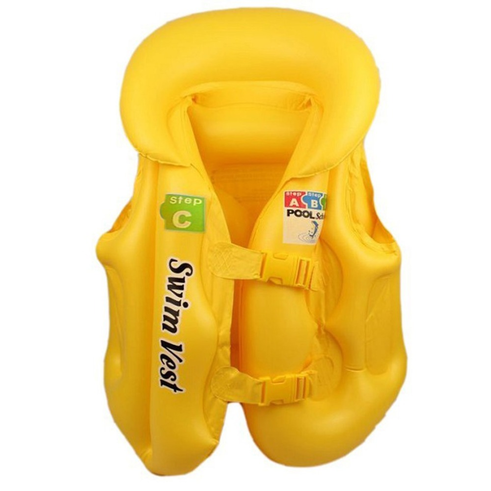 Kids Baby Safety Swimming Life Jacket Vest Baby Swimwear Suit PVC Inflatable Pool Float Swimming Drifting Vest Aid For Age 3-6