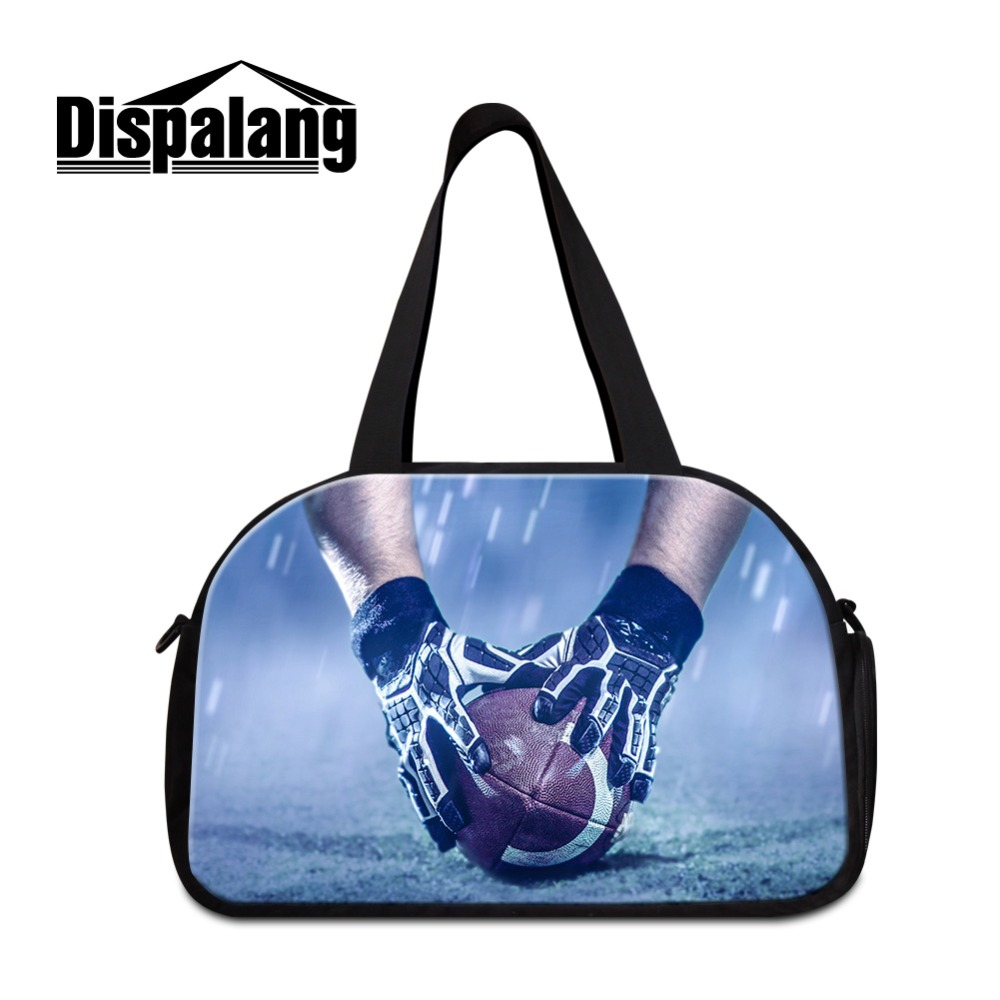 Dispalang Best Selling Duffle Bag Adults Weekend Bag With 2D Print American Footballl Picture Wholesale Clothes Bags for Women