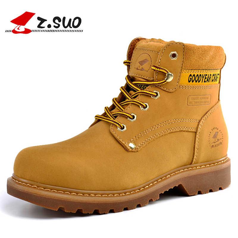 Z botas Suo para hombre zapatos de seguridad de trabajo de