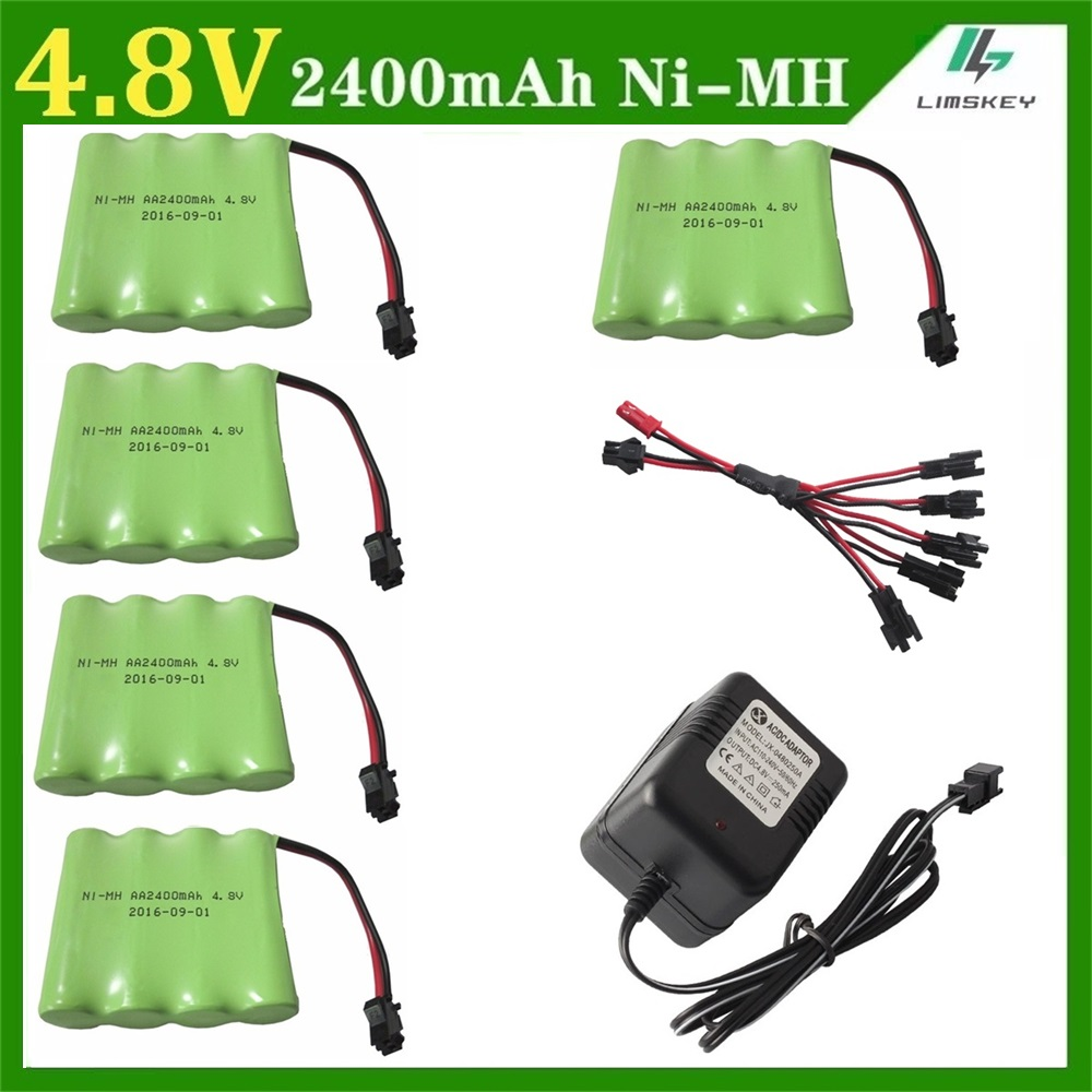 6pcs Charger sets 4.8V 2400mAh Ni-MH Remote Control toys/lighting lighting security facilities AA battery RC TOYS battery group аккумуляторы hr06 aa duracell ni mh 2400 2500 mah 2шт