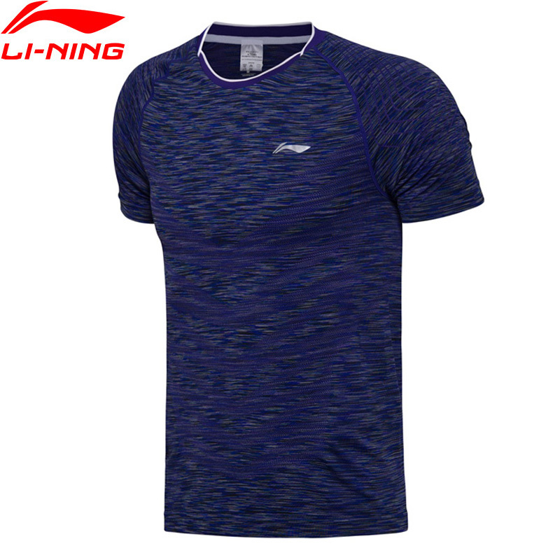 Li-Ning Mens Badminton Shirt Nation Team Competition Quick Dry Comfort Sports Wear Shirts AAYM139 L767