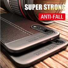 Luxury Leather Carbon Fiber Shockproof Back Cover For Xiaomi Redmi Go MI Play 7 Note Pro 9 SE Y3 Rubber Case