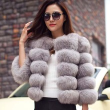 S-3XL Mink Coats Women 2016 Winter New Fashion Pink FAUX Fur Coat Elegant Thick Warm Outerwear Fake Fur Jacket Chaquetas Mujer