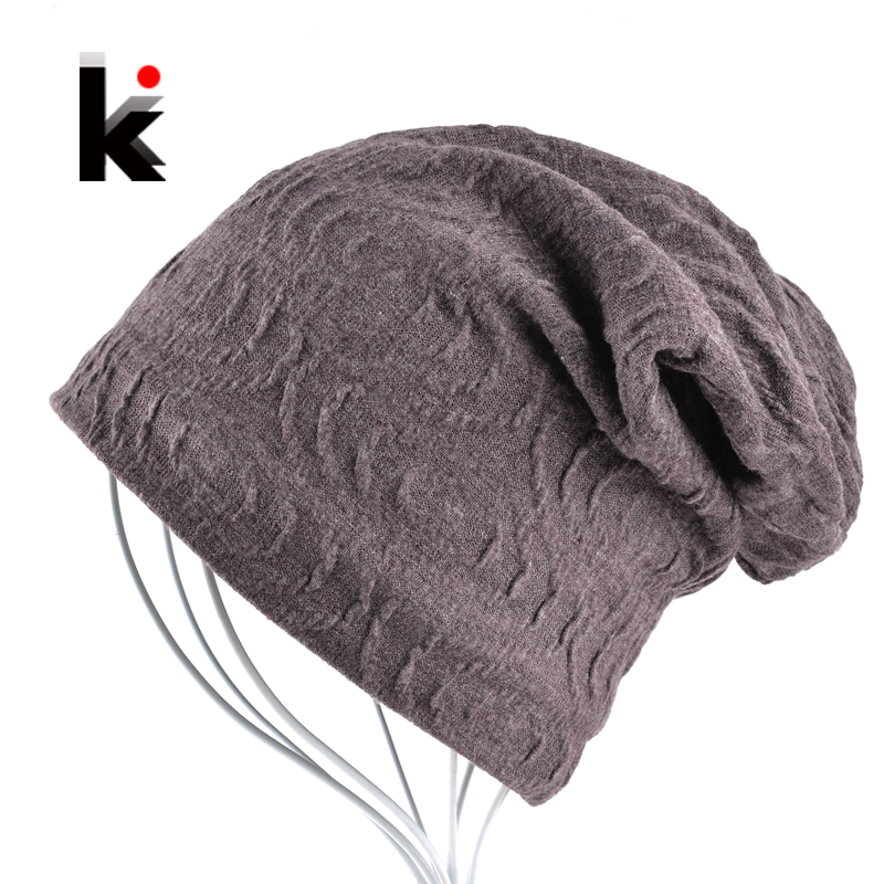 2017 Mens Skullies Bonnet Autumn And Winter Stocking Hat Knitted Beanie Cotton Caps Hats Beanies For Men Balaclava skullies