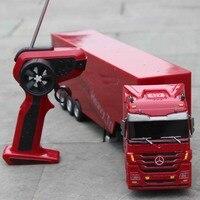 Kingtoy Ayrılabilir Çocuklar Elektrikli Büyük Rc kamyon Ayrılabilir Römork Uzaktan Kumanda Kablosuz Kamyon Oyuncak