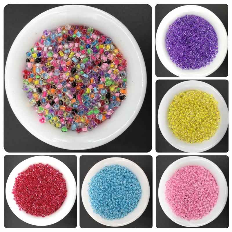500pcs/lot 2mm Glass Bead DIY Handmade Beads Jewelry Accessories Beautiful Harmless Simple Fashion Leisure For Necklace Bracelet
