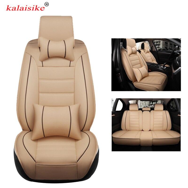 Kalaisike кожаные универсальные чехлы для сидений автомобиля для Honda все модели URV CRV CIVIC fit accord city XRV HRV jazz vezel Insight Spirior
