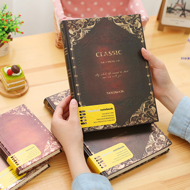Orginal Office Stationery Retro Classic Notebook 4 Sizes Notebooks Caderno Journal Periodical Planner Sketchbook Papelaria europe spiral original notebook planner hardcover sketchbook periodical pads notebooks caderno diary office stationery journal