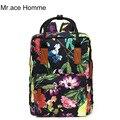 Sr. Homme Ace Marca Calidad Floral de la Lona Del Bolso de Escuela Mochila Para Adolescentes Chica Impresión Portátil Bolsa Mochila