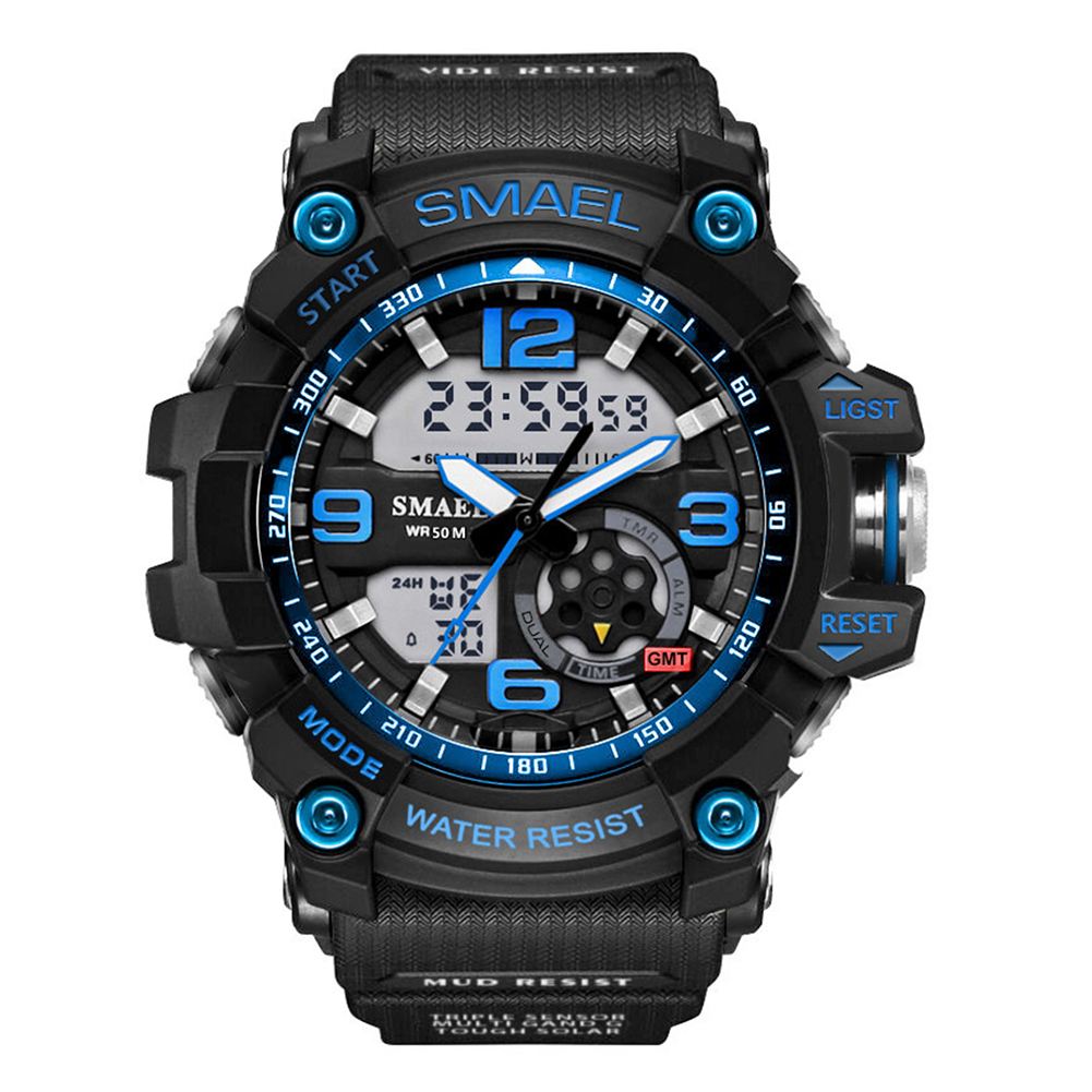 2017 Herren Uhr Sportliche Led Luminous Alarm Analog Digital Klettern Armbanduhr Dinge Bequem Machen FüR Kunden