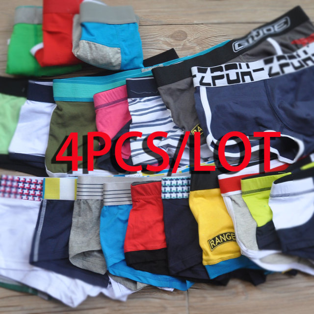 surprise men's random underwear cotton boxers underpants fashion sexy for male low rise short trunk pants lot=pack calzoncillos