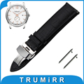 18mm 20mm 22mm First Layer Calf Genuine Leather Watch Band Quick Release Strap for Hamilton Butterfly Buckle Wrist Belt Bracelet