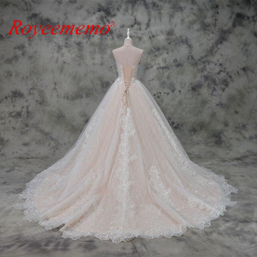 varm försäljning rosa satin av axeln speciella spetsar design - Bröllopsklänningar - Foto 4