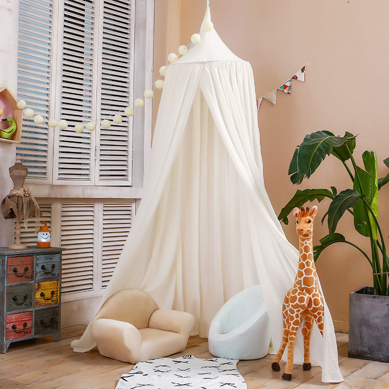 Kids Crib Netting Play Tent Children Hanging Teepees Tipi Mosquito Net For Boys & Girls Play House For Kids Baby Room Decoration children s room decoration playtent princess tent for kids play house baby playpen infant room dome hammock bed mosquito net