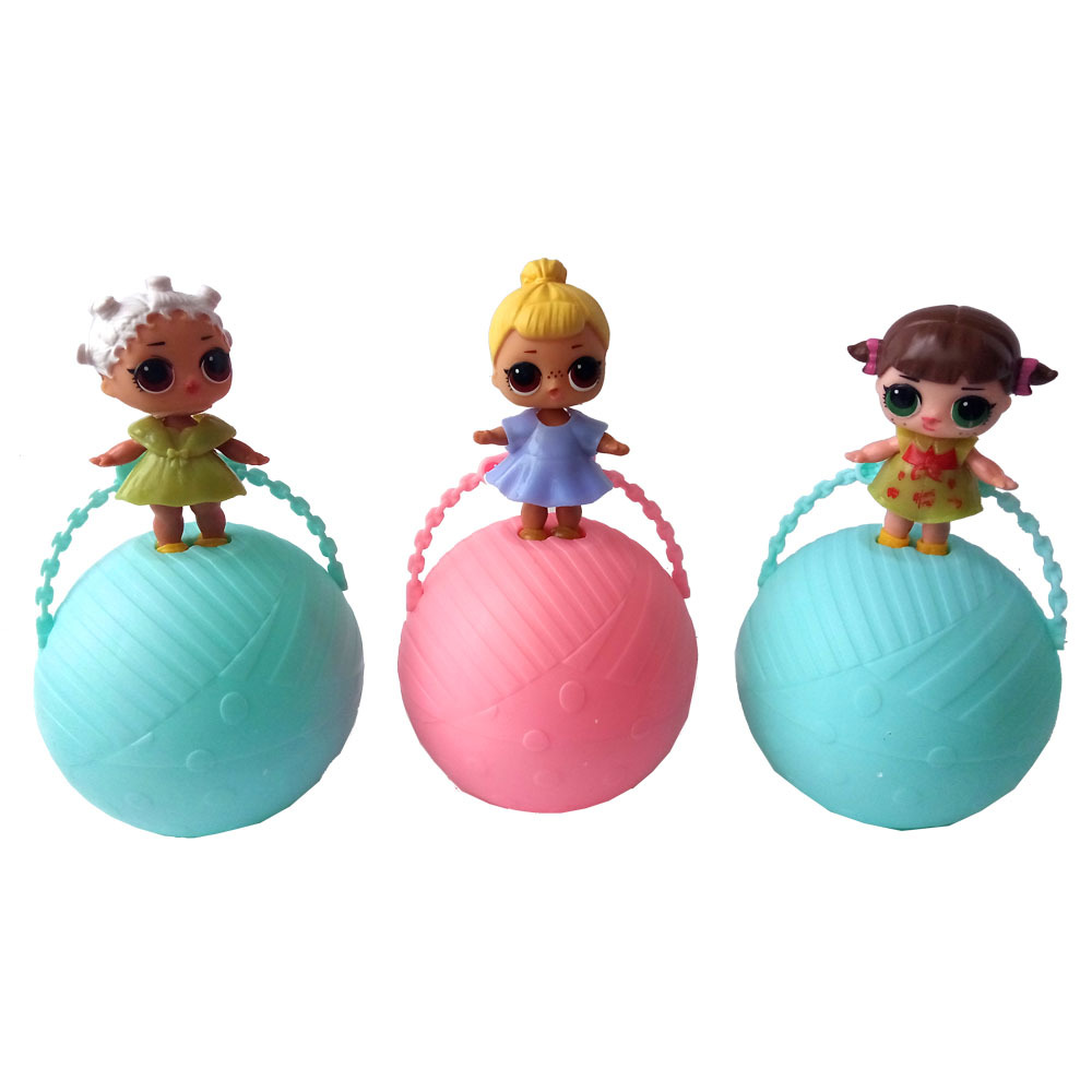 3ps/lot Girls Cartoon lol surprise Doll Water Spray Egg Ball Color Change Action Figures Toy for Children Dolls lol Kids Gifts new kids personalized gifts trolls cartoon magic long hair princess doll gift anime toy figures led ledclock toys for children