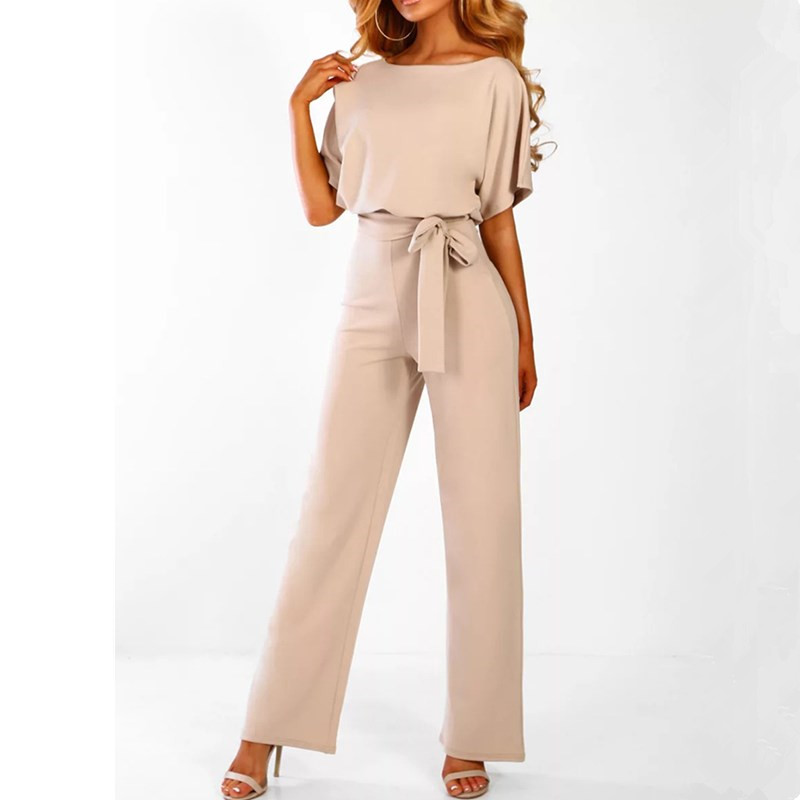 Short Sleeve 2019 New Women   Jumpsuit   Solid Back Button Bodysuits Womens Casual Spring Summer Overalls Female   Jumpsuits
