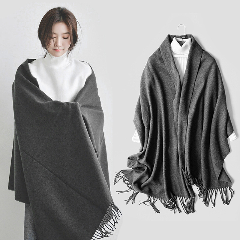 Fashion Cashmere Scarf Women Winter Warm Pashmina Wool Scarf Shawls Oversized Blanket Luxury Brand Thicken Long Scarves Wraps