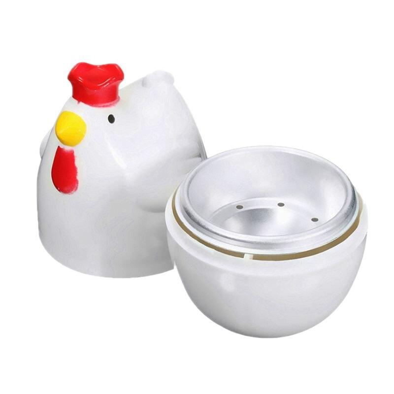 Ev Aletleri'ten Yumurta Kaynatıcıları'de Civciv şeklinde 1 haşlanmış yumurta vapur vapur havaneli mikrodalga yumurta pişiricisi pişirme araçları mutfak alet aksesuarları araçları title=