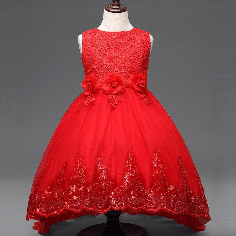 2f661eae33f 2017 summer flower Girl Dress Princess Party Dresses For Girls Sleeveless  Wedding Children Clothes Baby Clothing