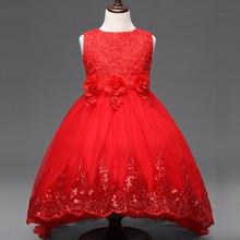 2016 summer flower Girl Dress Princess Party Dresses For Girls Sleeveless Wedding Children Clothes Baby Clothing Vestidos