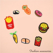 Fabric Embroidered French Fries  Patch Clothes Sticker Bag Sew Iron On Applique DIY Apparel Sewing Clothing Accessories BU140