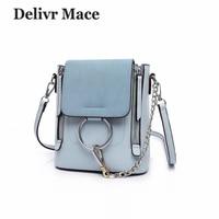 Scrub Ring Blue Women's Handbag 2018 Summer Fashion Chain Small Women Handbags Female Crossbody Shoulder Bags Girl Messenger Bag