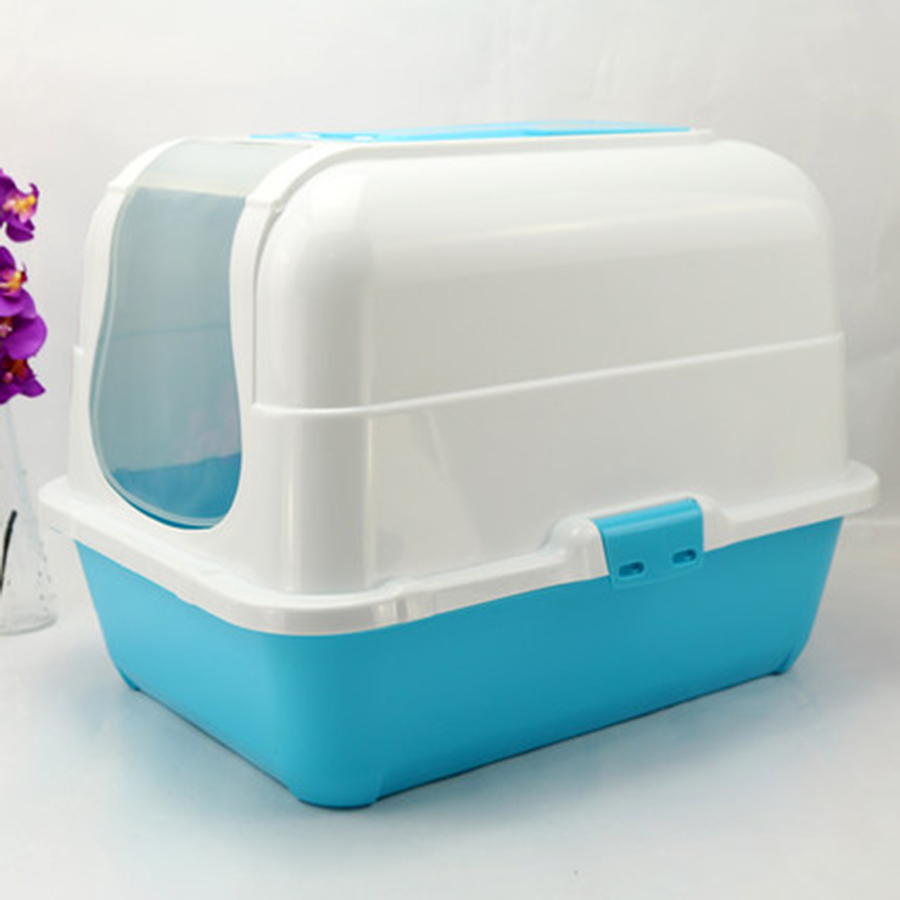 Enclosed Toilet Pet Cat Sand Boxes Large Litter Tray Cats Urinal Bedpan WC Pets Litter Training Aenero Gato Pet Supply 90Z2093