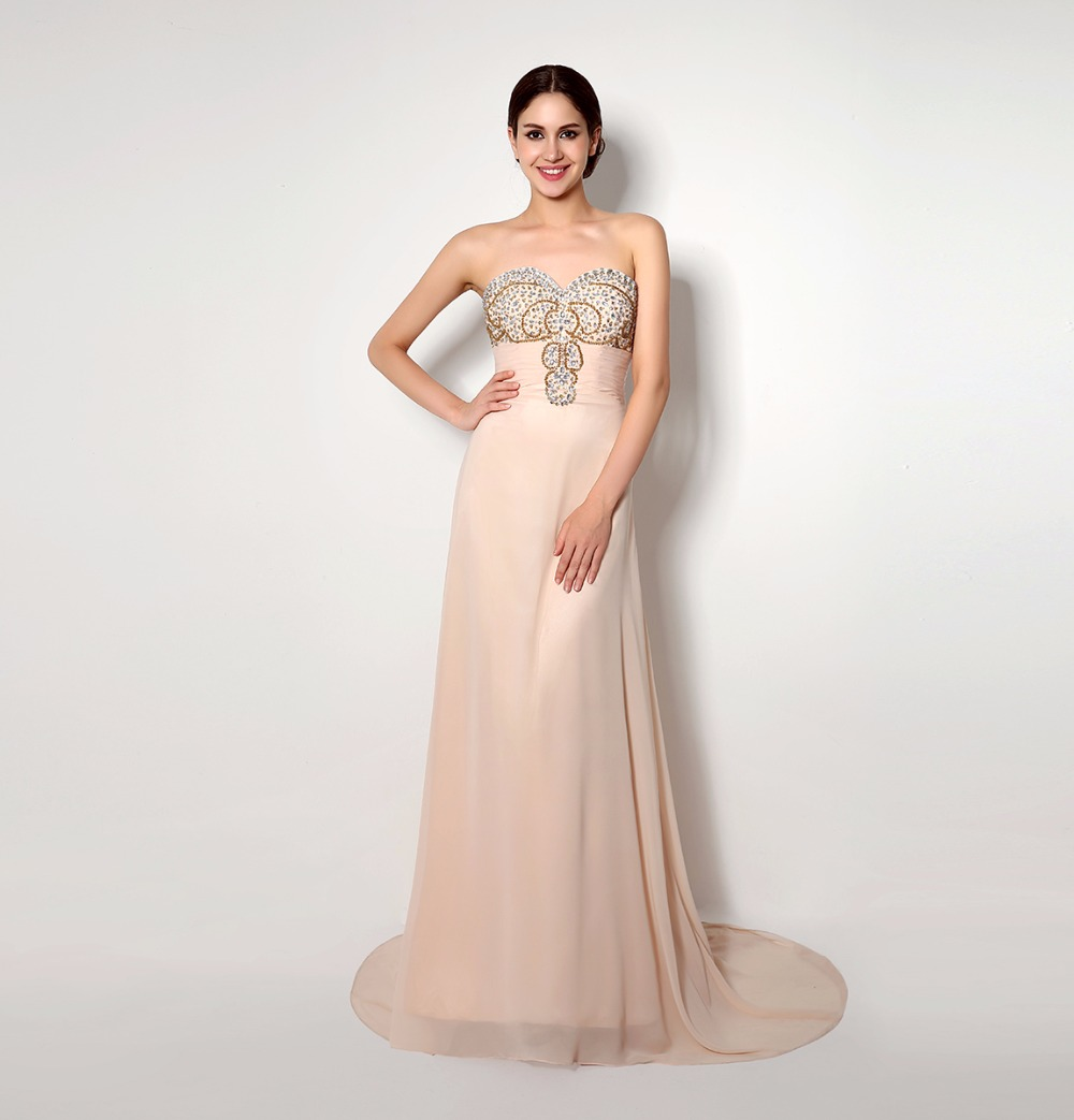 Popular champagne maid dress buy cheap champagne maid dress lots real photo cheap light champagne chiffon beading crystal bridesmaid dresses 2016 honor of maid dress formal ombrellifo Choice Image