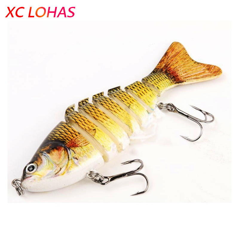 Best 7 Segments Artificial Fishing Lure with Barb Hooks 3D ...