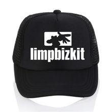 Fashion hat limpbizkit logo baseball cap Fashion Men women summer Mesh cap  trucker cap 2018 new hip hop hat 38bd81401b8a
