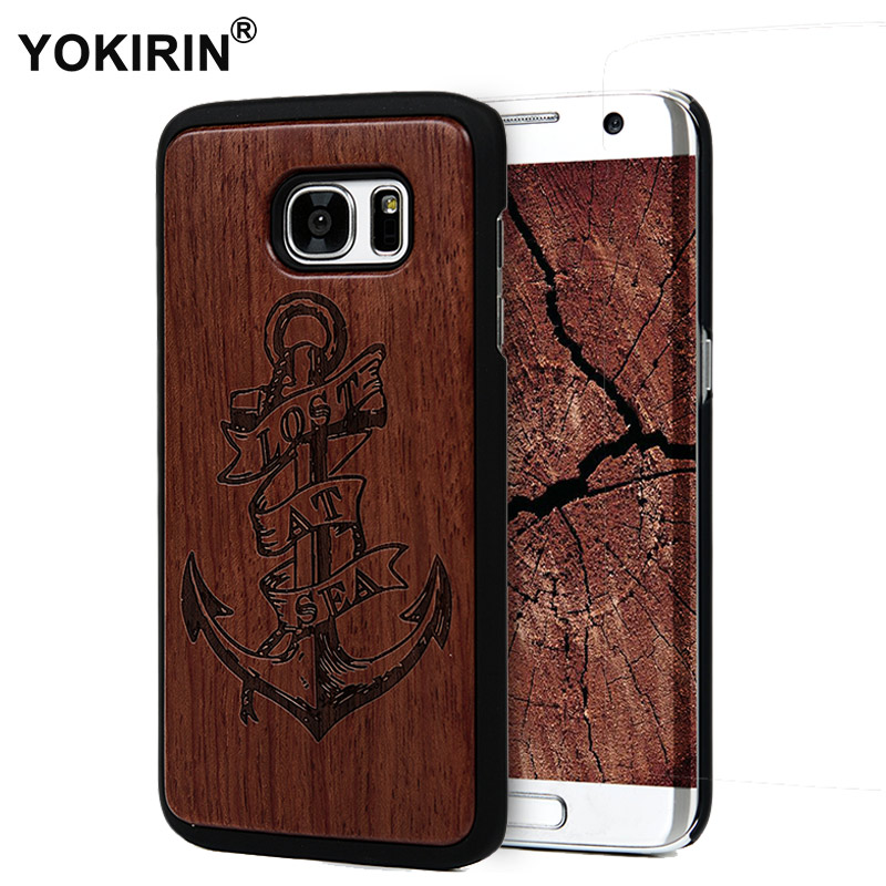 Us 1056 Yokirin Retro Bamboo Traditional Sculpture Wood Back Wooden Phone Case For Samsung Galaxy S7 S7 Edge Hard Phone Cover In Fitted Cases